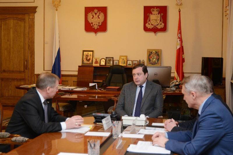Алексей Островский провел рабочую встречу с представителем ОАО «РЖД»