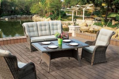 Садовая мебель, выполненная из ротанга