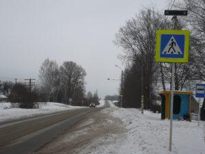 Активисты ОНФ добились частичного дорожного обустройства участка автодороги в смоленской деревне