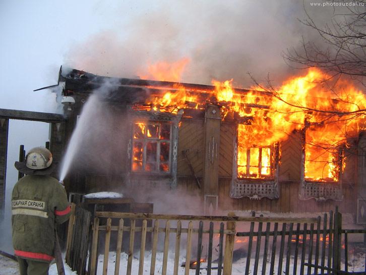 В Смоленском районе при пожаре пострадал пожилой мужчина