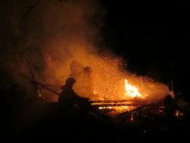 За ночь в Смоленской области в пожаре погибло три человека