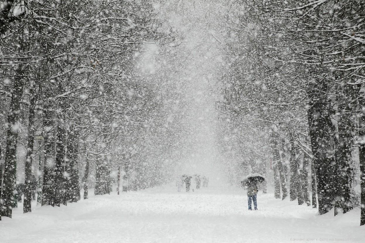 В пятницу в Смоленске ожидается снегопад и потепление