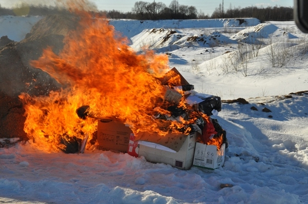 В Смоленской области по приговору суда в костер бросили 20 килограммов наркотиков