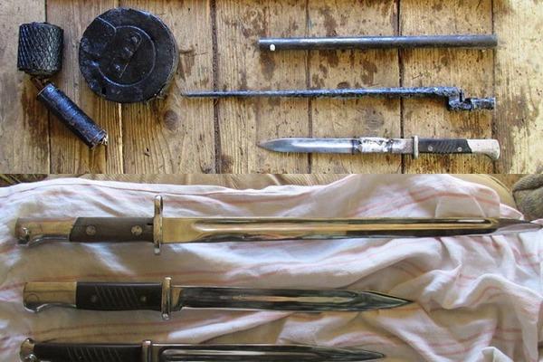 В гараже смолянина обнаружен склад оружия времен ВОВ