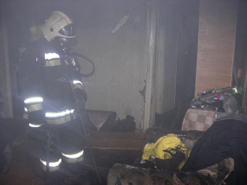 В Смоленске при пожаре погиб пенсионер