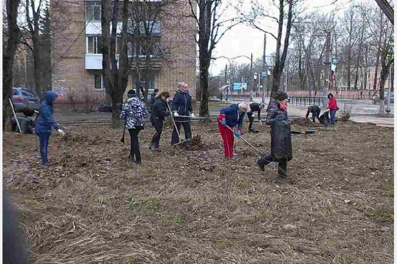 Смоленские чиновники устроили субботник в Заднепровье