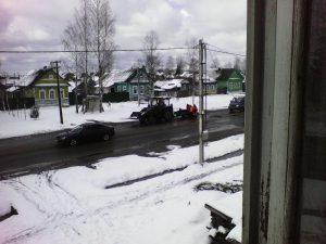 На севере Смоленской области прошел снегопад