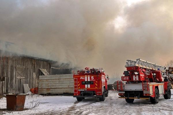 В Смоленской области огонь повредил баню