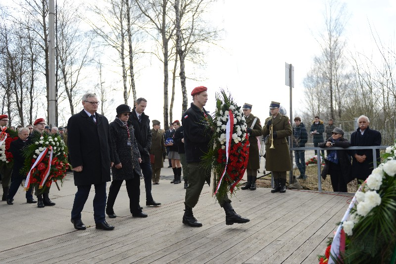 В Смоленске на месте падения самолёта польского президента состоялась траурная церемония
