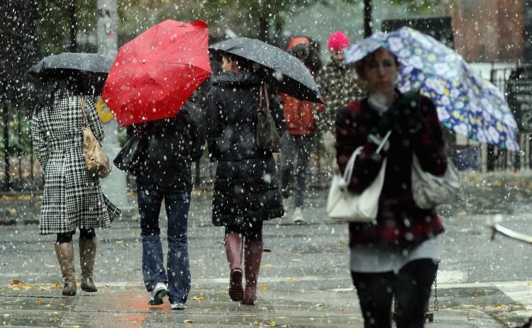 В четверг синоптики обещают смолянам дождь и мокрый снег