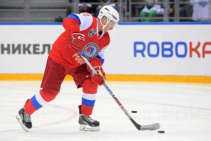 Путин забросил шесть шайб в хоккейном матче в Сочи