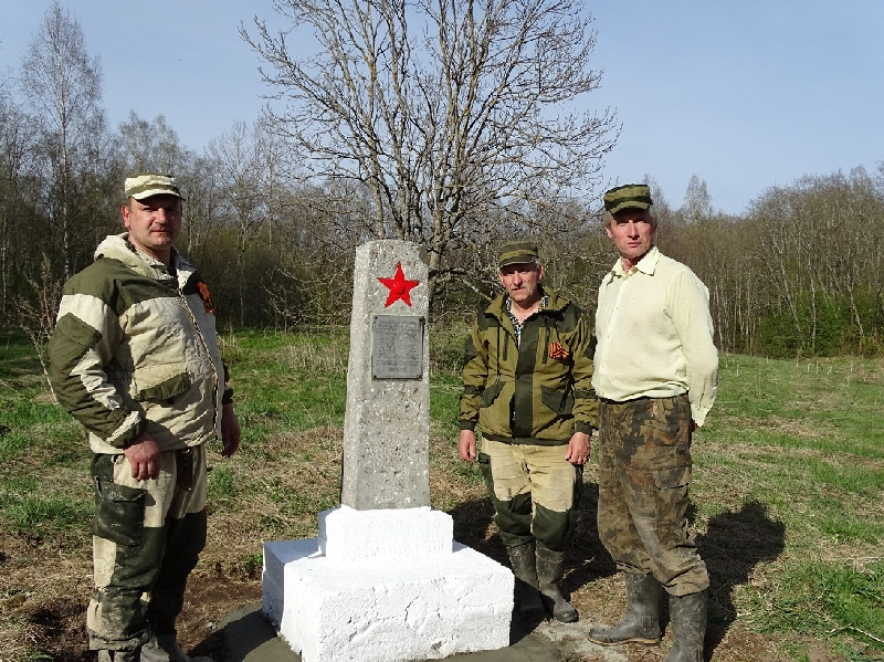 Смоляне отремонтировали памятник партизанскому отряду батьки Миная