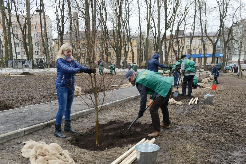 Вандалы разрушили памятную Аллею в Смоленске