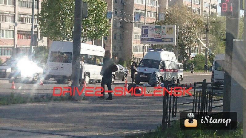 В Смоленске маршрутка насмерть сбила женщину на «зебре»