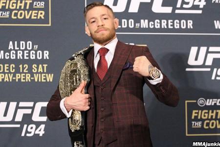 Освобождение Конором МакГрегором пояса чемпиона в полулёгком весе UFC