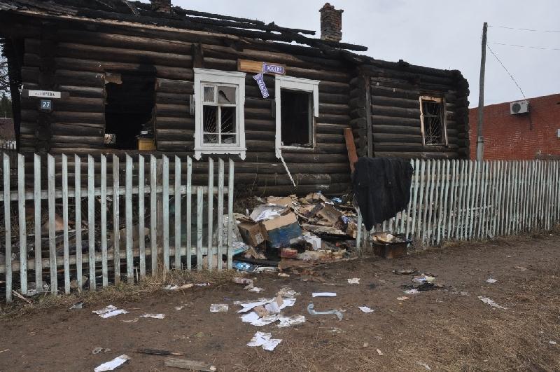 В Сычевском районе сгорело здание почты