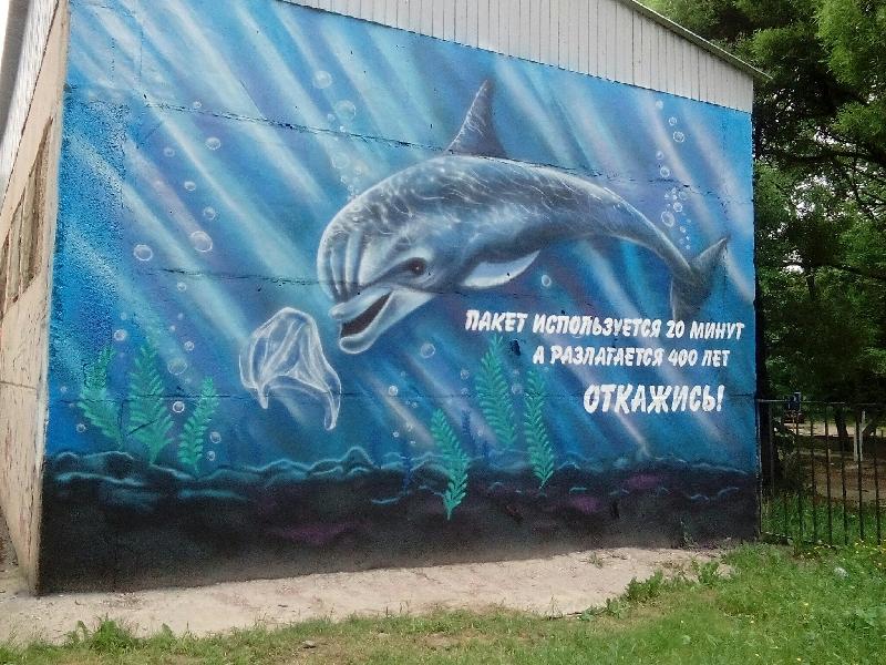 В Смоленске завершили еще одно эко-граффити