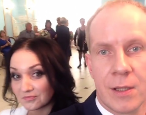 В Интернете появилось видео со свадьбы звезды КВН Максима Киселева