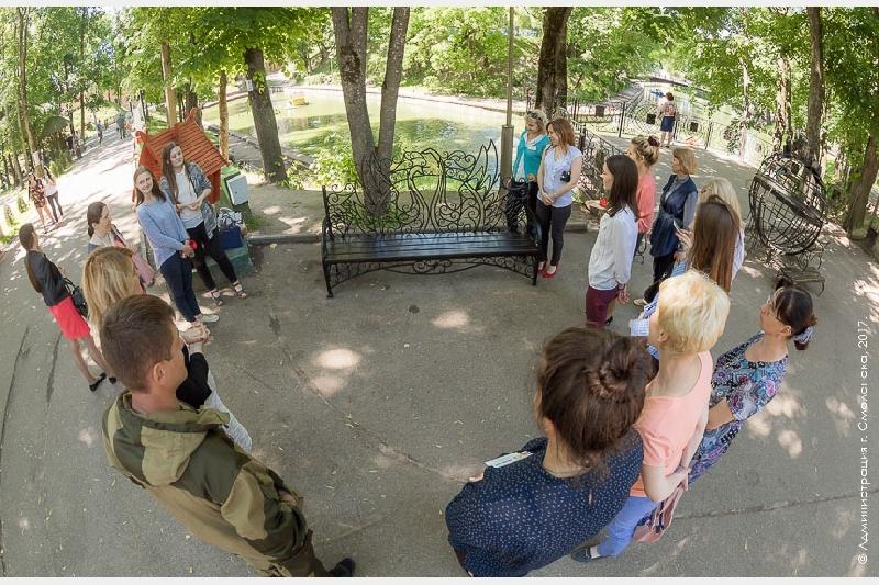 В смоленском парке установили новые аттракционы и малые архитектурные формы