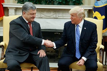 Киев объяснил формат приема Порошенко в Белом доме особым стилем Трампа
