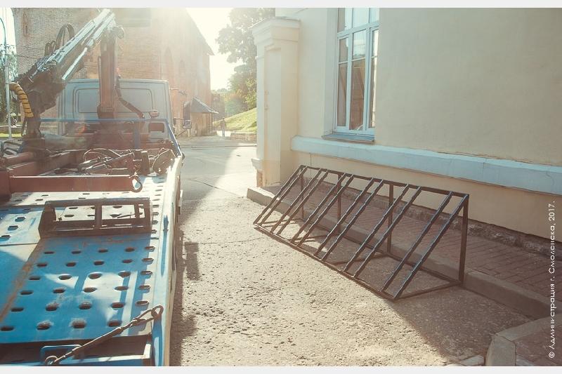 В центре Смоленска появилась велопарковка