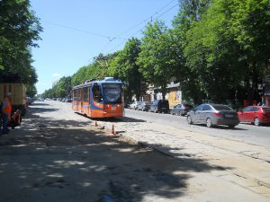 В центре Смоленска возобновили трамвайное движение