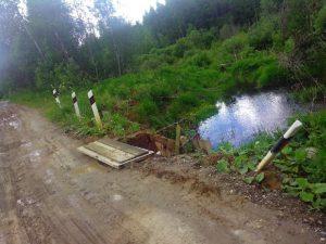 В Смоленской области скорая помощь не смогла проехать к больному ребенку из-за плохого состояния моста