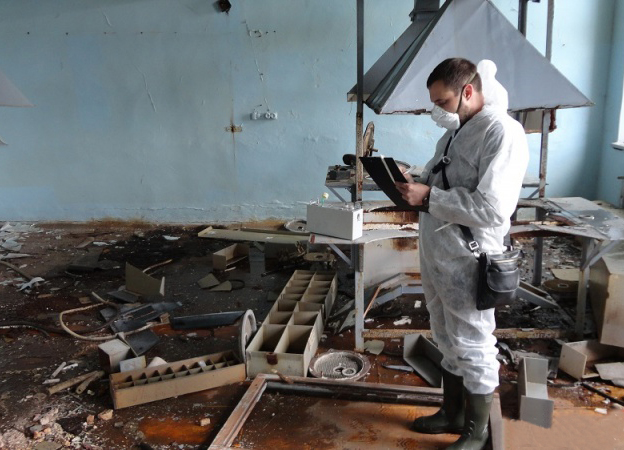Стартовал второй этап работ по демонтажу зданий главного корпуса и цеха санитарной очистки воздуха ЗАО «Еврогласс» в Голынках