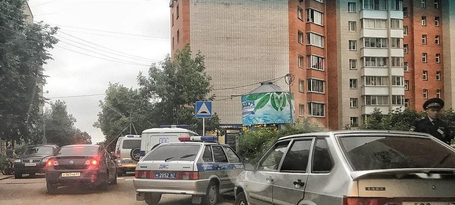 В Смоленске на Оршанской полиция выставила оцепление