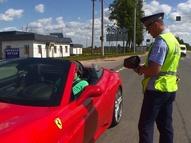 Смоленские полицейские проверили скоростной режим на Минском шоссе