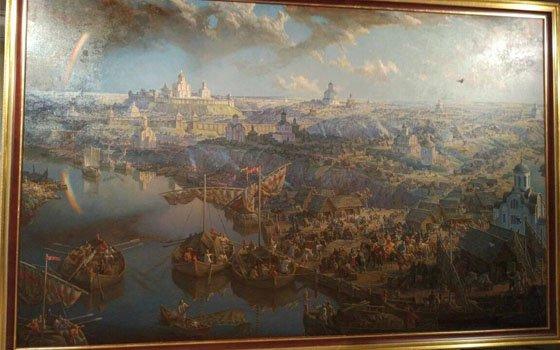 В смоленском зале ожидания можно будет увидеть еще одну картину художника Анатолия Булдакова