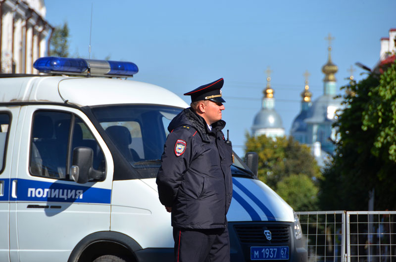 Смоленские полицейские обеспечили безопасность в День города