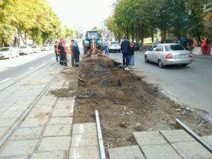 Стало известно, когда восстановят размытые трамвайные рельсы в Смоленске