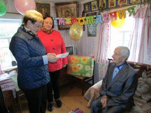 Ветеран Великой Отечественной войны из Духовщины отметил 95-летний юбилей