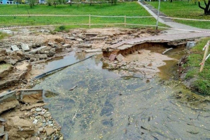 Смоленский парк 1100-летия находится в аварийном состоянии