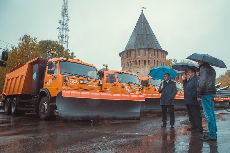 Глава города Смоленска презентовал новую коммунальную технику