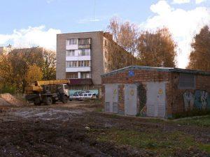 Теплоэнергетики использовали часть двора в Смоленске как свою базу