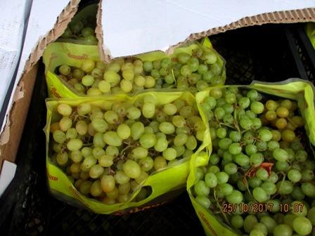 В Смоленскую область пытались ввезти зараженный турецкий виноград