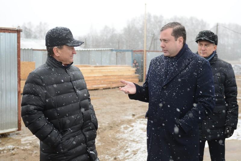 Губернатор посетил Рославльский и Починковский районы