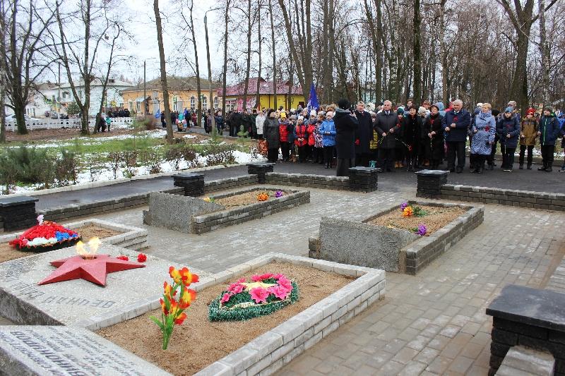 В Сычевке после реконструкции открыли городской парк