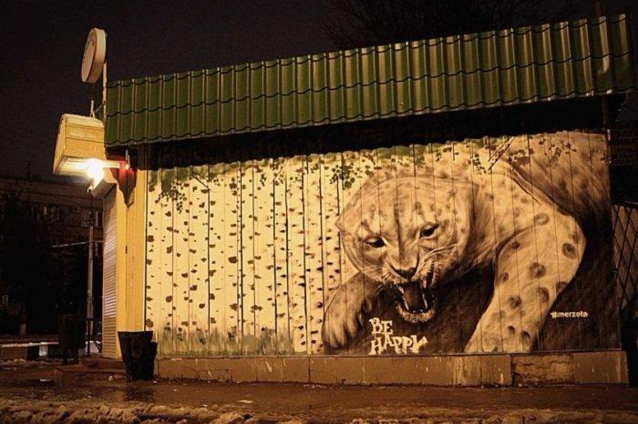 В Смоленске стало на одно экологическое граффити больше