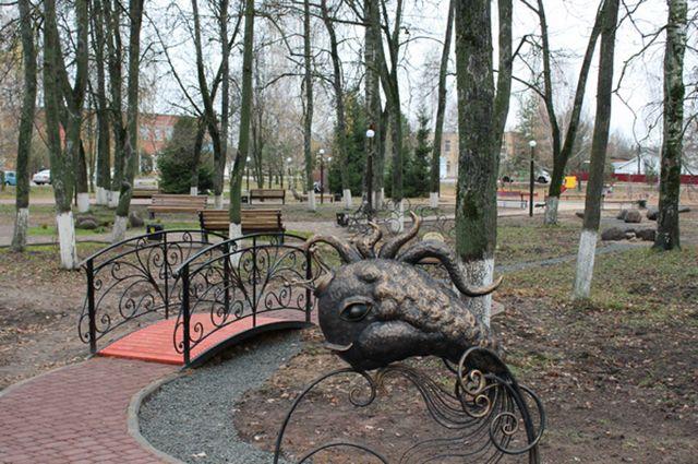 В Починке благоустроили парк отдыха