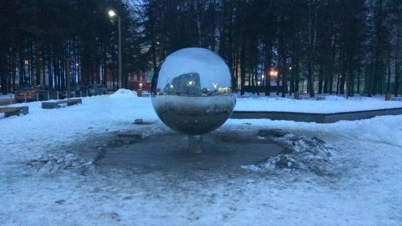В Смоленске в новом сквере подключили освещение