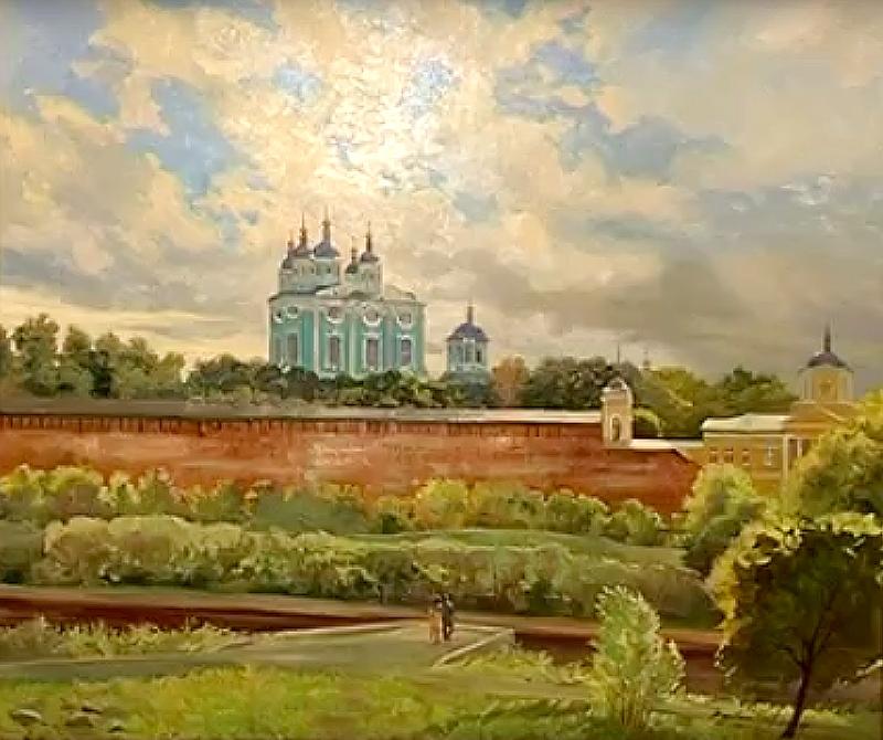 Московский художник изобразил на своих полотнах Смоленск