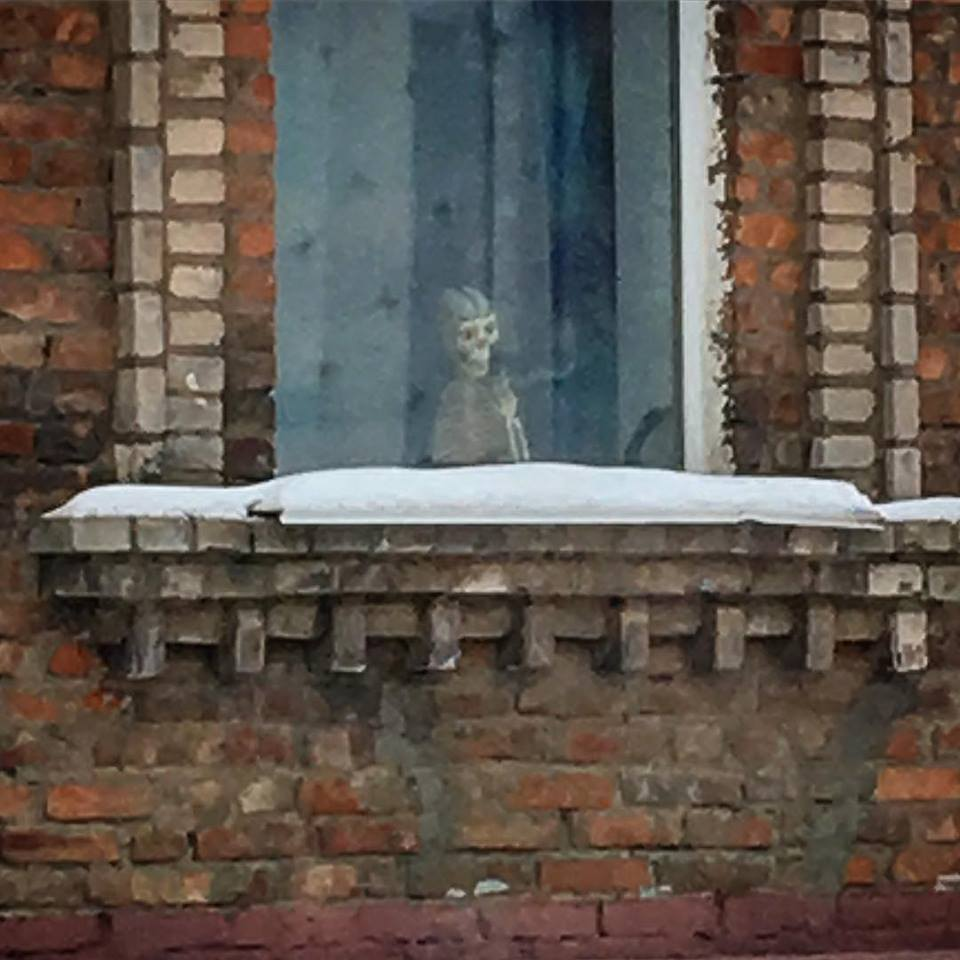 В Смоленске дизайнер предупредила о скелете в окне
