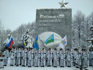В Угранском районе состоялась военно-патриотическая акция, приуроченная к 100-летию со дня образования Красной Армии