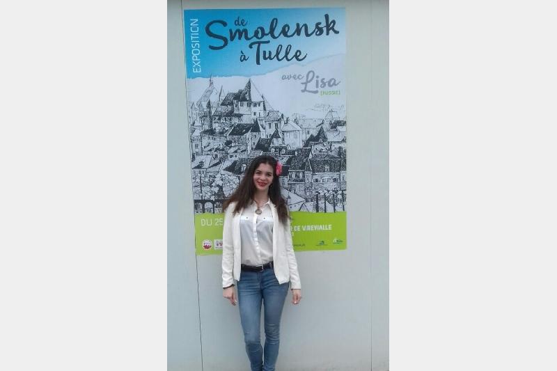 Во Франции прошла персональная выставка смоленской студентки