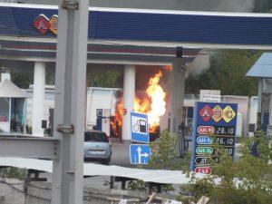 Под Вязьмой в Смоленской области вспыхнул резервуар с бензином