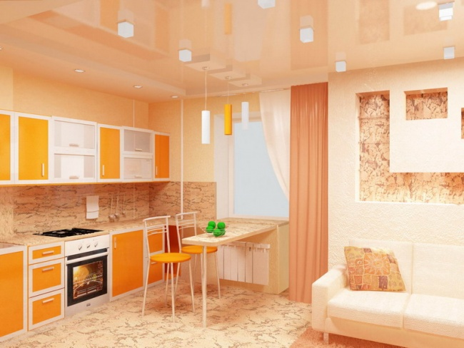 Как переделать кухню в комнату?