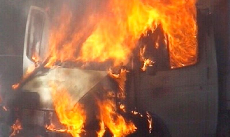 В райцентре Смоленской области сгорела «Газель»